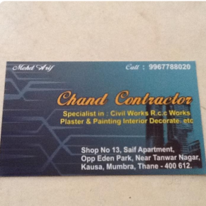 Chand Contractor - Mumbai - Contractor