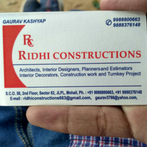Ridhi Constructions - Mohali - Architect