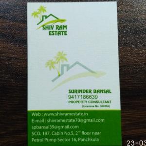 Shiv Ram Estate - Panchkula - Property Dealer