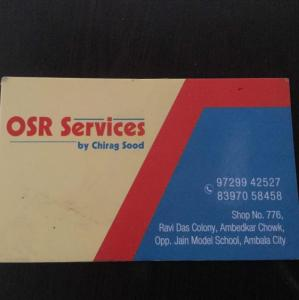 Osr Services By Chirag Sood - Ambala - Electrician