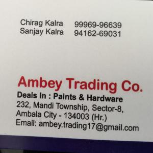 Ambey Trading Co - Ambala - Paint Supplier