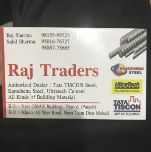 Raj Traders - Chandigarh - Building Material Supplier