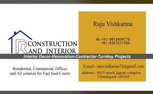 RR Construction and Interior - Chandigarh - Contractor