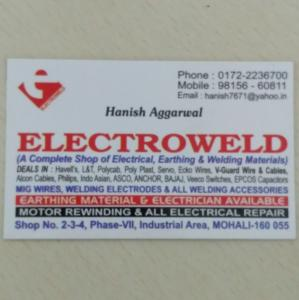 Electroweld - Mohali - Electrical Supplier