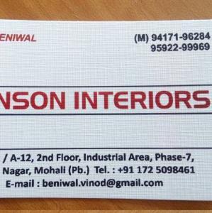 Benson Interiors - Mohali - Architect
