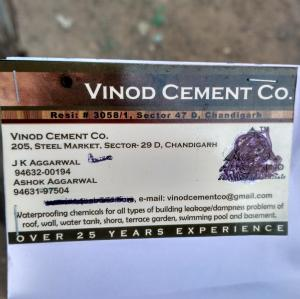 Vinod Cement Co - Chandigarh - Building Material Supplier