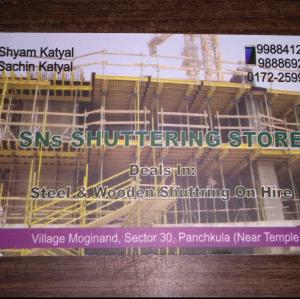 SNs Shuttering Store - Panchkula - Building Material Supplier