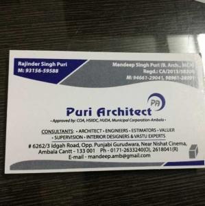 Puri Architect - Ambala - Architect