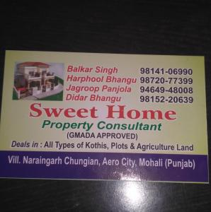 Sweet Home Property Consultant - Mohali - Property Dealer